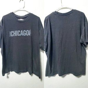 Reebok Men's Gray Chicago T-Shirt XL